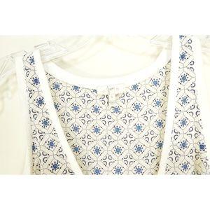 Joie Tops - Joie top tank SZ S white geometric pattern 100% si